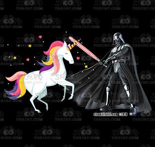 Vader vs. Unicorn_BLK Product Image